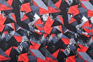Abstract Print (Red/Black/Multi)