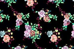 Floral Print (Black/Green/Multi)