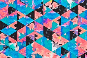 Abstract Print (Turquoise/Fuchsia/Multi)