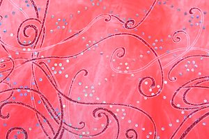 Glitter/Pattern Stretch Velvet (Hot Pink/Silver/Multi)
