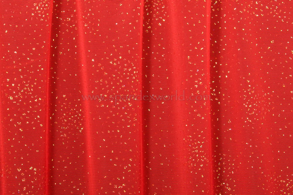 Glitter/Pattern Mesh (Red/Pearl)