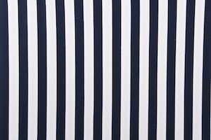 Printed Stripes (White/Navy)