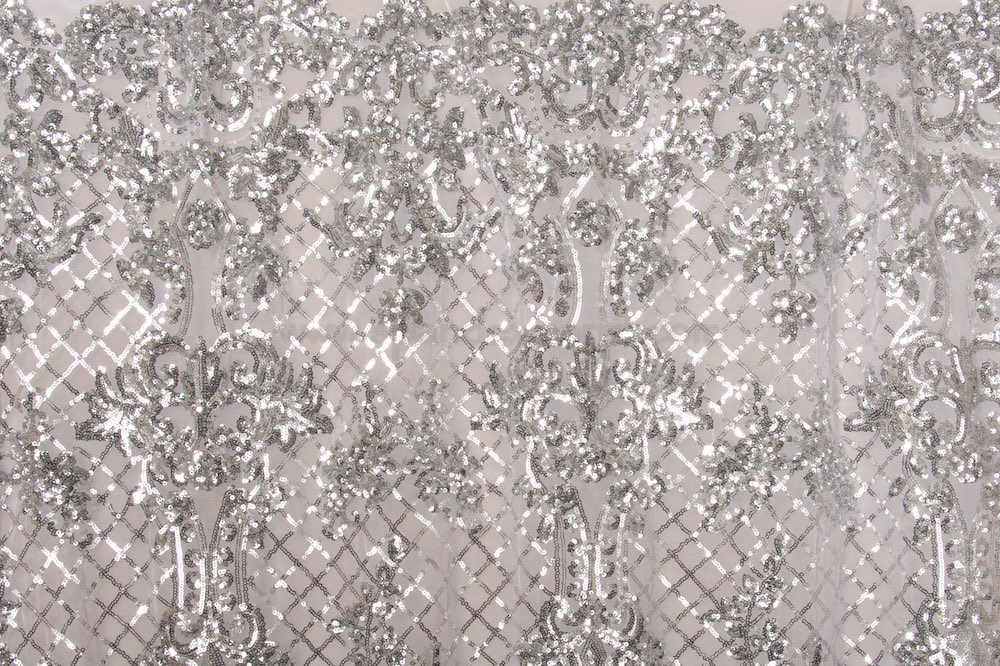 Stretch Sequins (Silver/White)