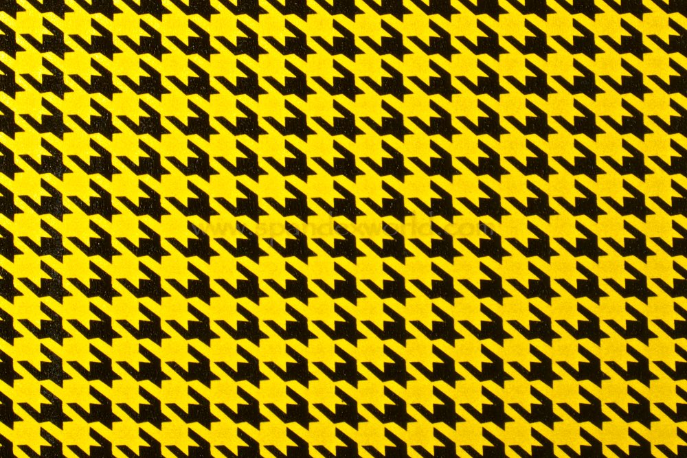 Pattern/Abstract Hologram (Yellow/Black)
