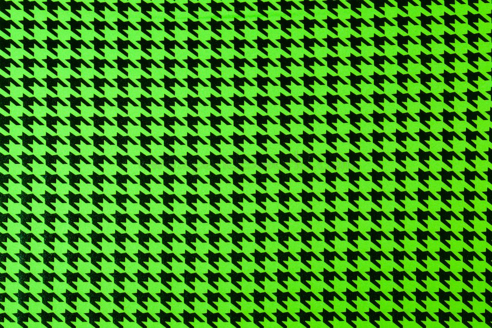 Pattern/Abstract Hologram (Lime/Black)