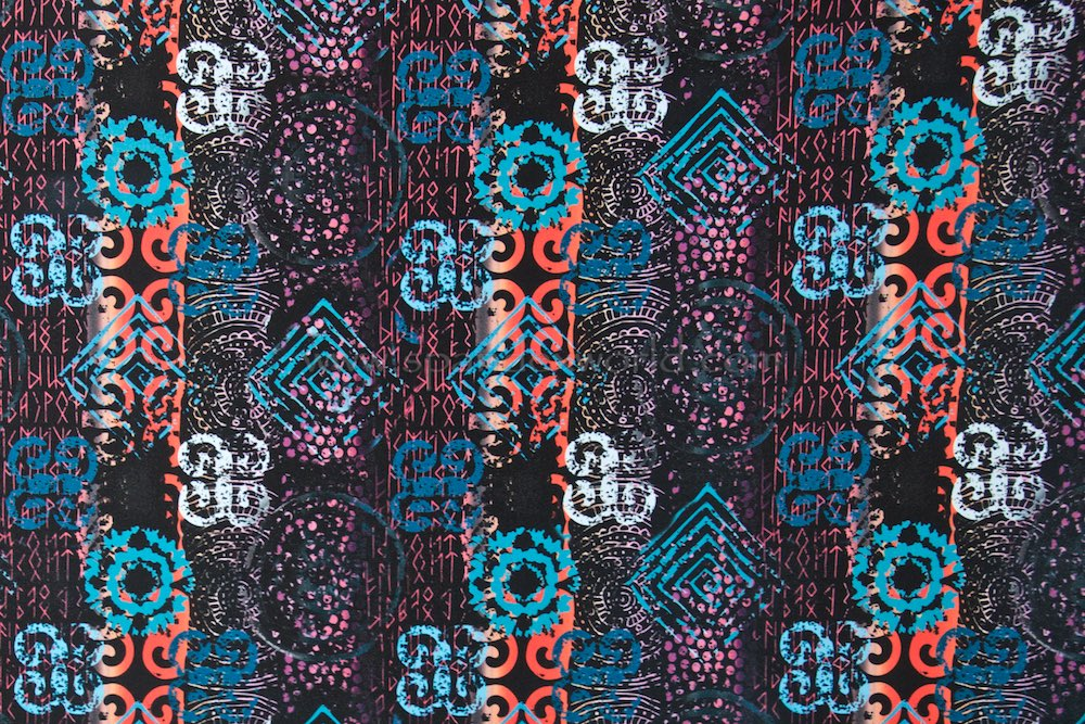 Abstract Print (Black/Orange/Blue/Multi)