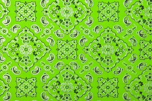 Pattern/Abstract Hologram (Neon Green/Silver)