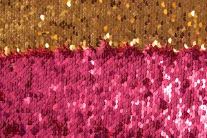 Reversible Sequins (Fuchsia/Gold)