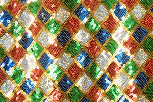 Non-Stretch Sequins(Red/Royal/Gold/Multi)