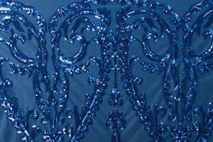 Non Stretch Sequins (Royal Blue/ Royal Blue)