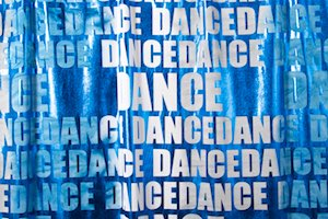 Tie Dye Metallic Spandex (Royal Blue/Gray)