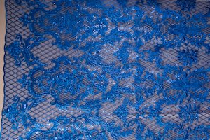 Non Stretch Sequins( Royal Blue/Royal Blue)