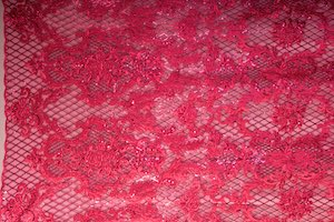 Non Stretch Sequins(Fuchsia/Fuchsia)