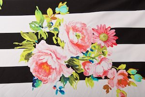 Floral Print (Hot pink/white/black/blue/Multi)