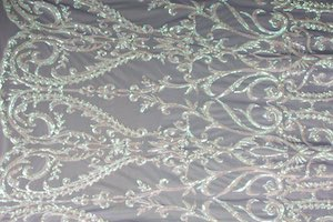 Non Stretch Sequins (White/white Pearl)