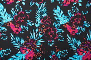 Printed Spandex (Black/Blue/Purple/Multi)