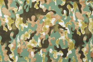 Printed Spandex(Olive Green/Black)