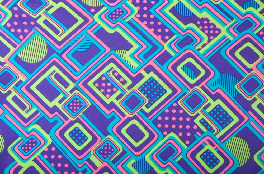Printed Spandex(Sky/Pink/Lime/Purple)