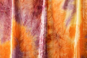 Tie Dye Stretch Velvet (Orange/Purple/Multi)