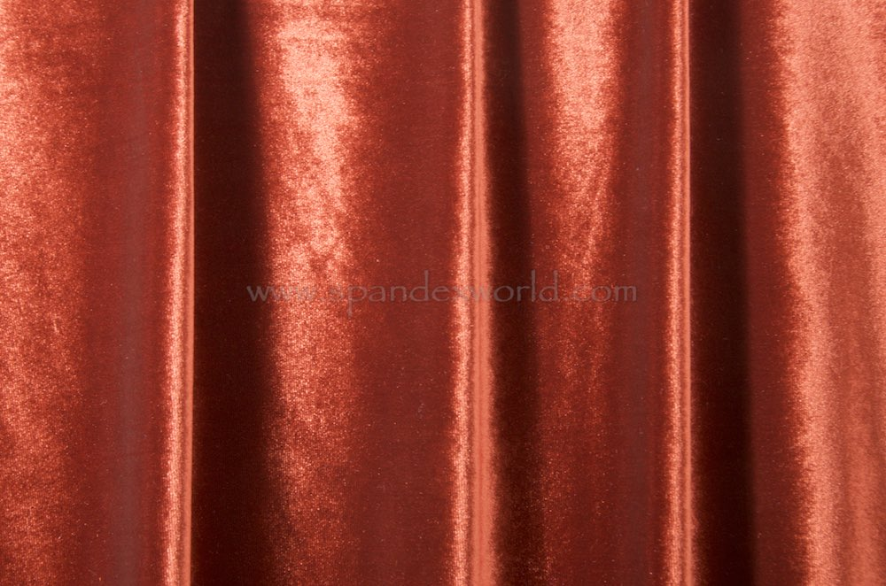 Stretch Solid Velvet (Dark Copper)