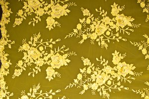 Non-Stretch Lace (Yellow/Yellow/Gold)