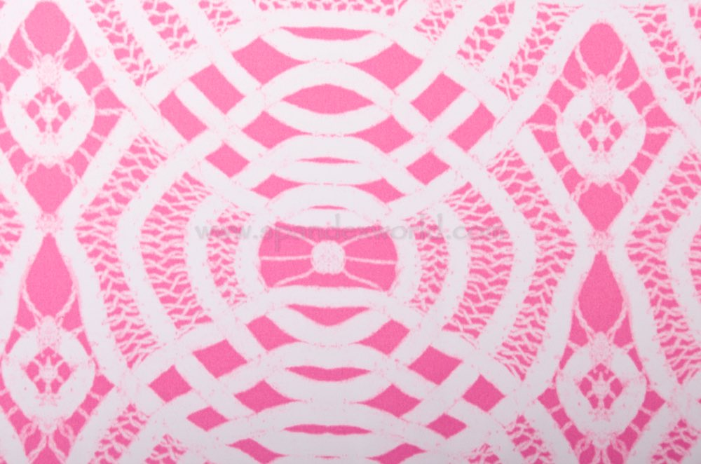 Abstract Print Spandex (White/Baby Pink)