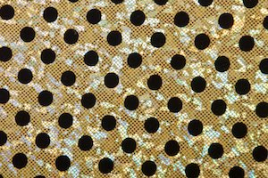 Polka Dot Hologram (Gold/Black)
