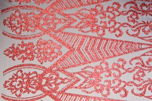 Cracked ice lace (Red/Black)