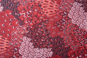 Peacock Prints With Sequins (Red/Black/White/Burgundy/Multi)