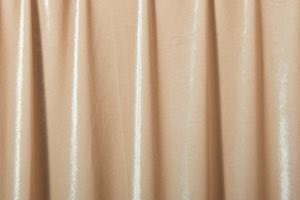 Stretch Solid Velvet (Cream)