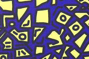 Abstract Prints (Purple/Neon Yellow/Black/Multi)