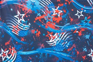 Printed Stars (Royal/Red/White/Multi)