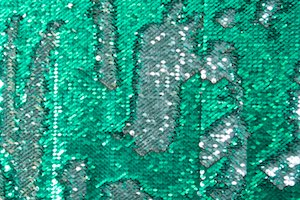 Reversible Stretch Sequins (Kelly/Silver)