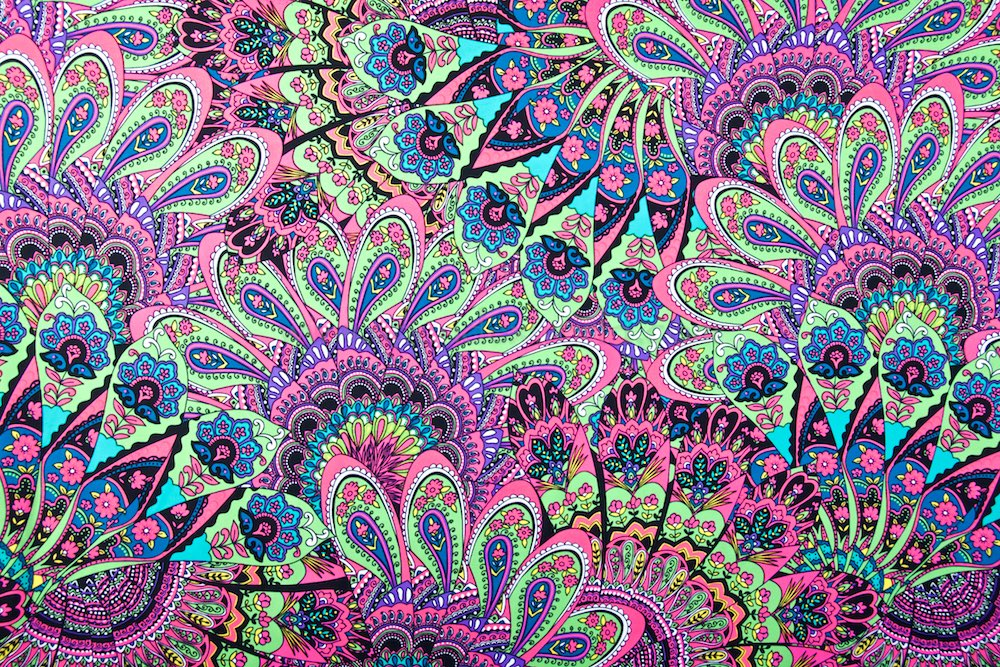 Peacock Prints (Lime/Hot Pink/Teal/Multi)