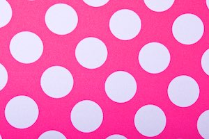 Printed Polka Dots (Hot Pink/White)