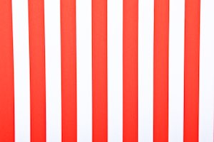 Printed Stripes (White/Red)