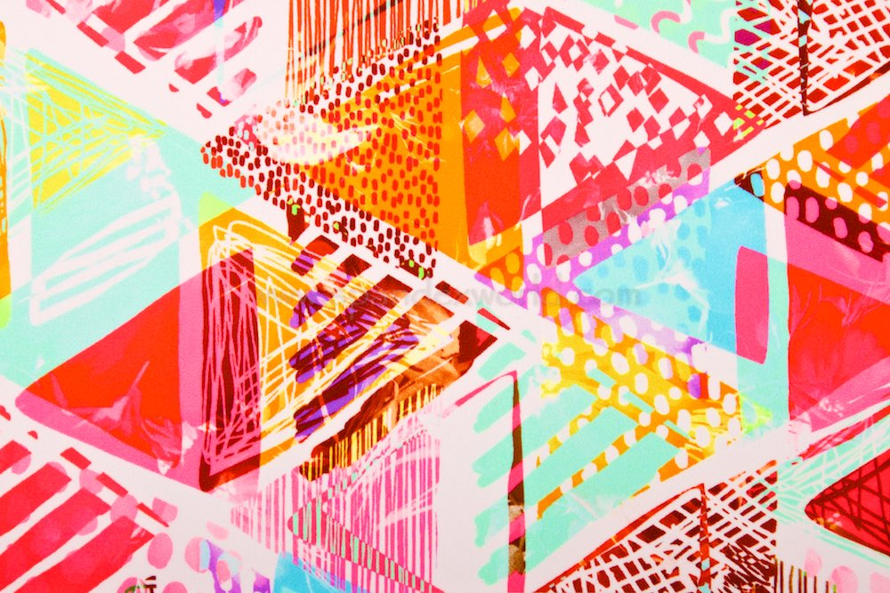 Abstract Prints (White/Pink/Orange/Multi)