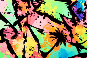 Abstract Prints (Black/Neon Green/Pink/Multi)