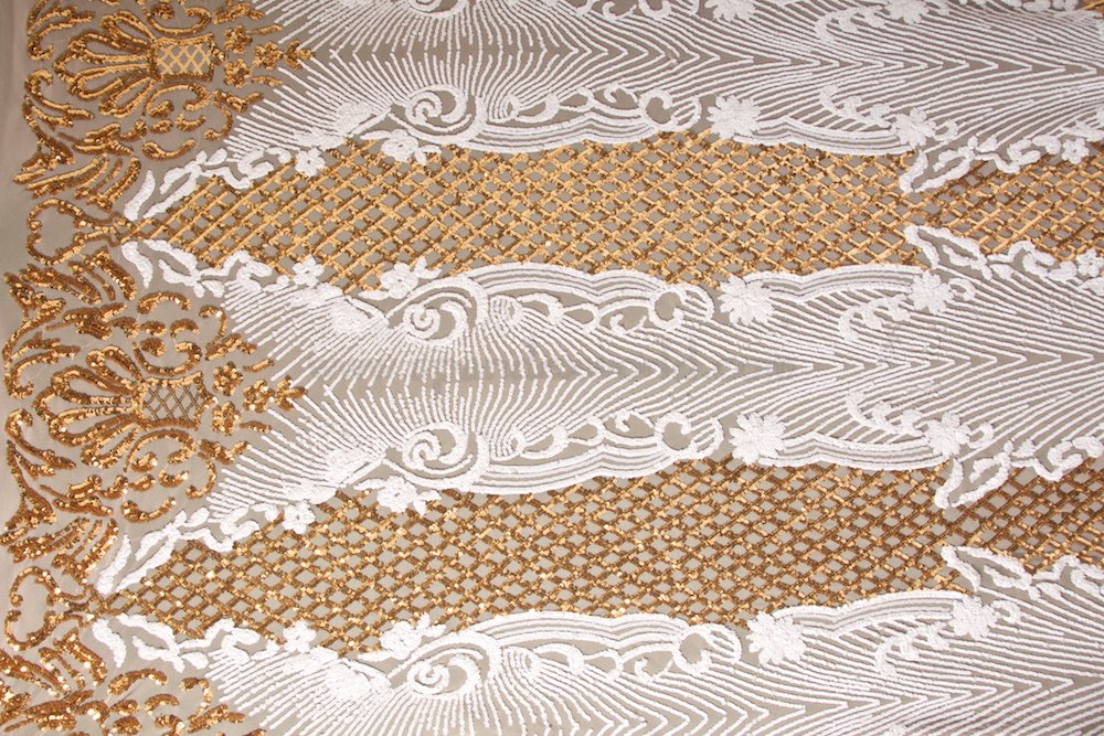 Stretch Sequins (Nude/Gold/White)