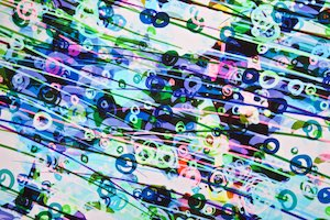 Abstract Prints (White/Purple/Green/Multi)