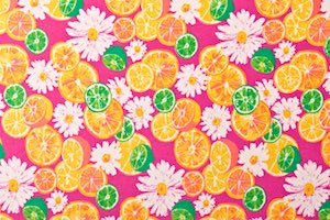 Fruits & vegetables  prints (Pink/Yellow/Green/Multi)