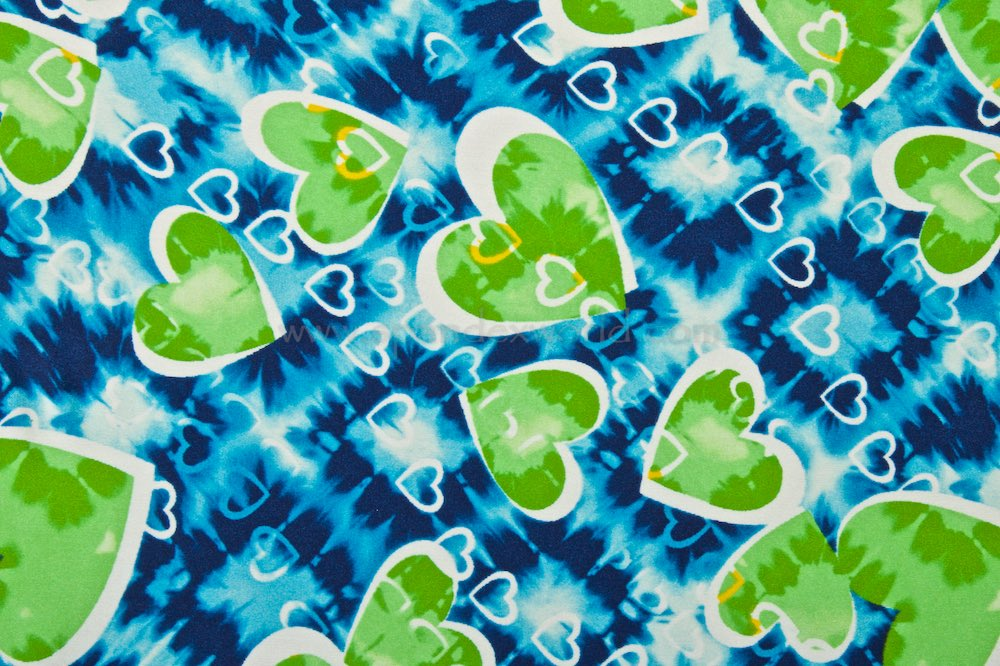 Hearts Prints (Green/White/Blue/Multi)
