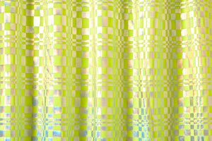 Pattern/Abstract Hologram (Neon Yellow/Silver Holo)
