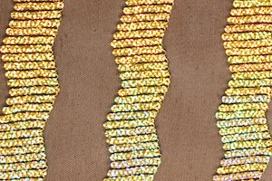 Stretch Sequins (Gold/Black)