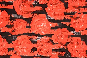 Floral prints (Black/Red)