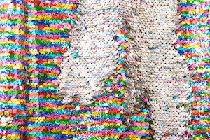 Reversible Stretch Sequins (Silver/Multi/Black)
