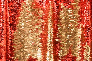 Reversible Stretch Sequins (Red/Gold/Red)
