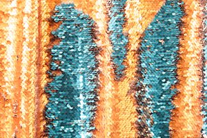 Reversible Stretch Sequins (Copper/Teal/Orange)