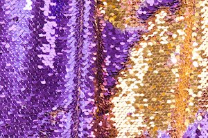 Reversible Sequins  (Purple/Gold)