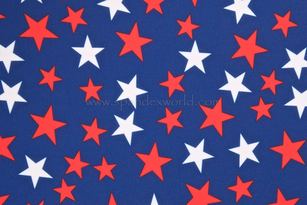 Printed Stars (Navy Blue/White/Red)